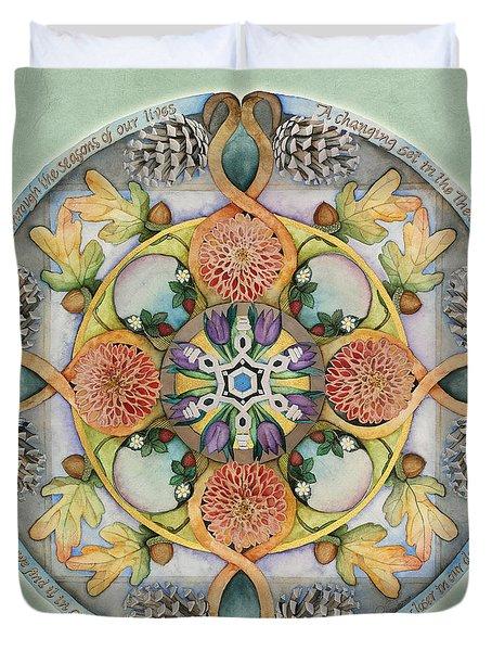 Seasons Mandala Duvet Cover
