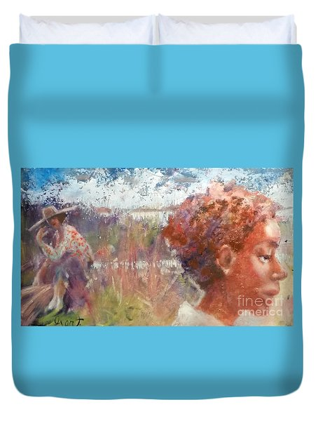 Seasons Of Sweetgrass Duvet Cover