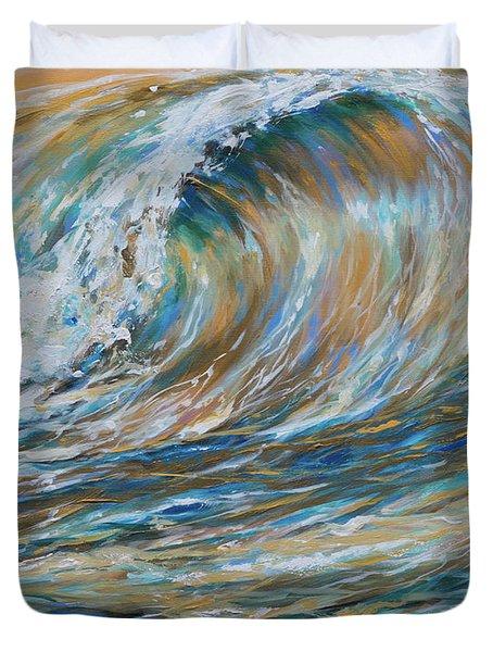 Seaspray Gold Duvet Cover