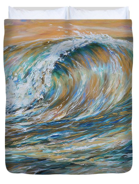 Seaspray Gold Duvet Cover