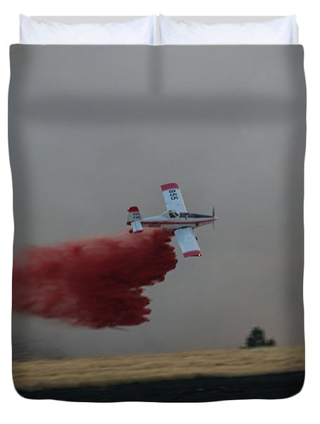 Duvet Cover featuring the photograph Seat Drops On Indian Canyon Fire by Bill Gabbert