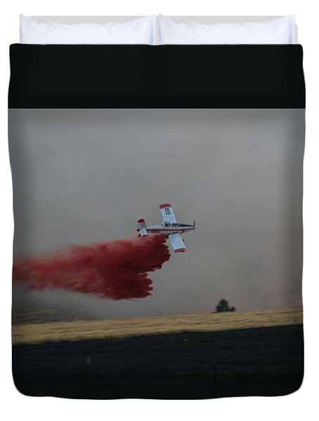 Seat Drops On Indian Canyon Fire Duvet Cover