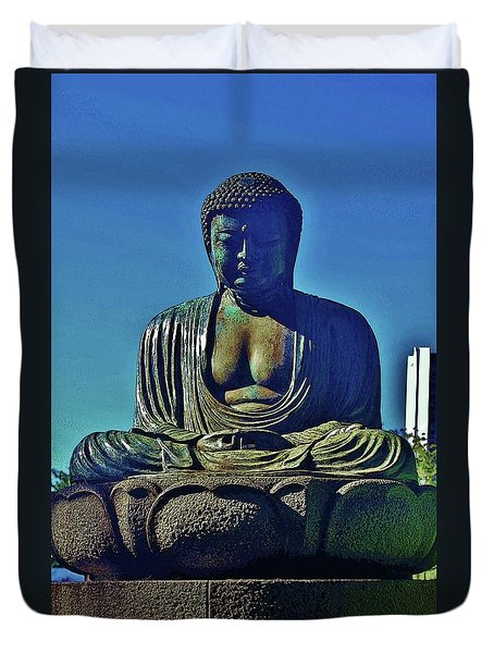 Seated Buddha Duvet Cover by Craig Wood