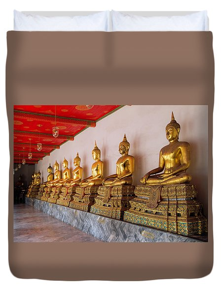 Seated Buddhas Duvet Cover
