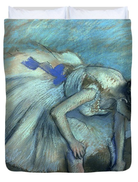 Seated Dancer Duvet Cover by Edgar Degas