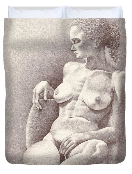 Seated Figure No. 6 Duvet Cover
