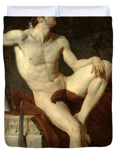 Seated Gladiator Duvet Cover by Jean Germain Drouais