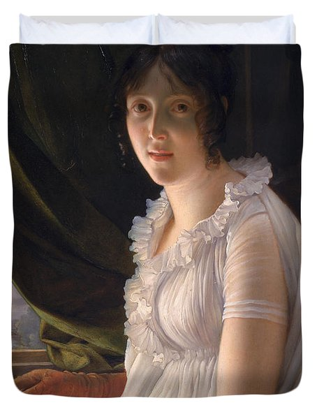 Seated Portrait Of Marie Philippe Claude Walbonne Duvet Cover by Francois Pascal Simon Gerard