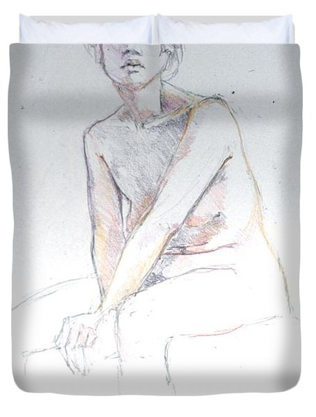 Seated Study 2 Duvet Cover