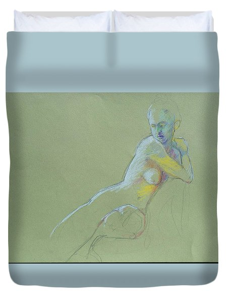 Seated Study Duvet Cover