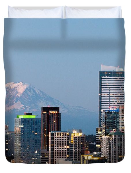 Seattle At First Light II Duvet Cover