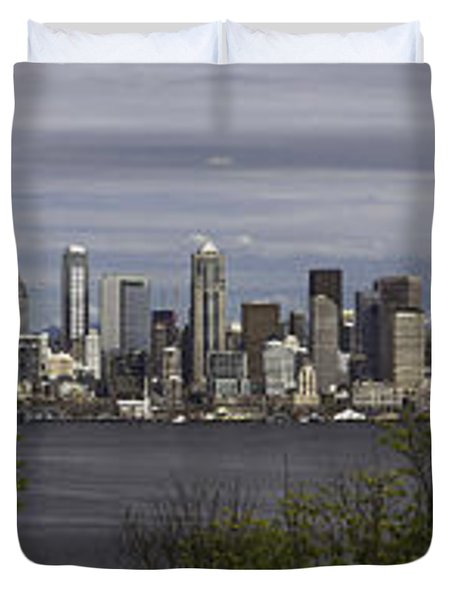 Seattle At Its Best Duvet Cover by James Heckt