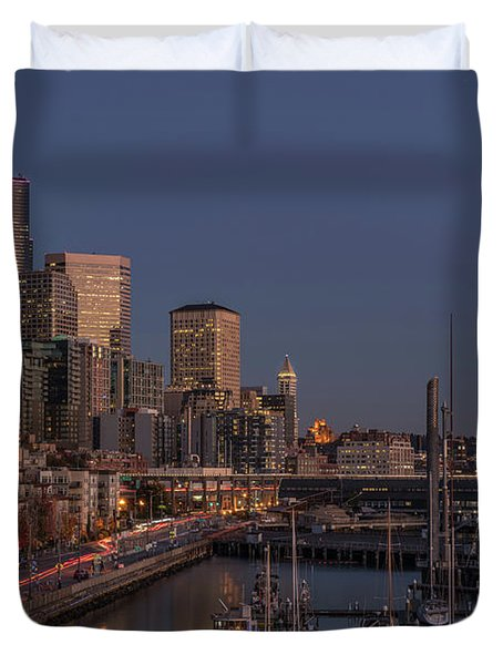 Seattle Autumn Nights Duvet Cover