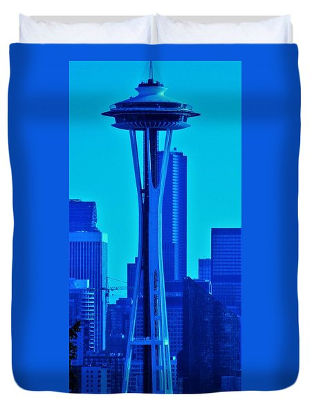 Seattle Blue Duvet Cover by Martin Cline