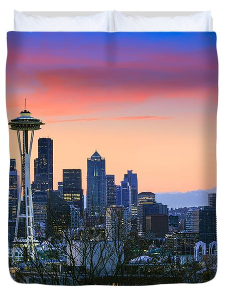 Seattle Waking Up Duvet Cover