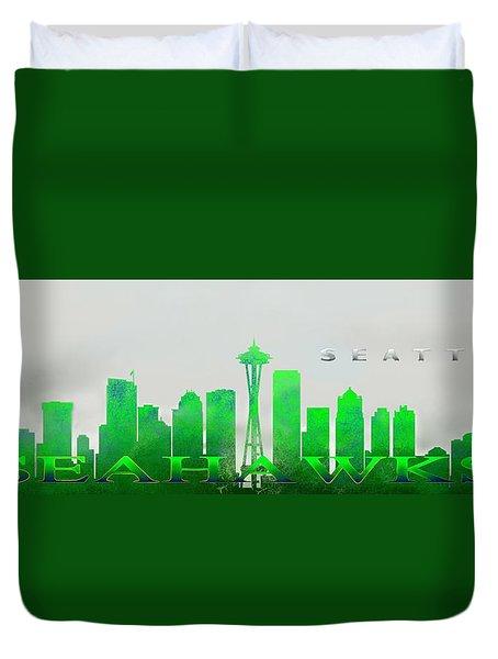 Seattle Greens Duvet Cover