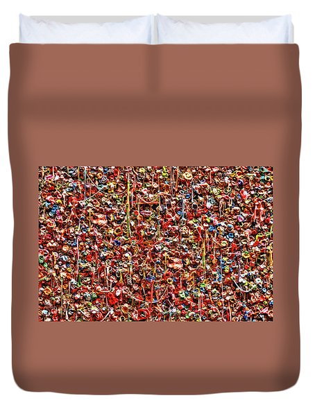 Seattle Gum Wall 2 Duvet Cover by Allen Beatty