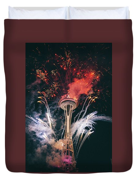 Seattle Duvet Cover by Happy Home Artistry