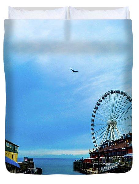 Seattle Pier 57 Duvet Cover