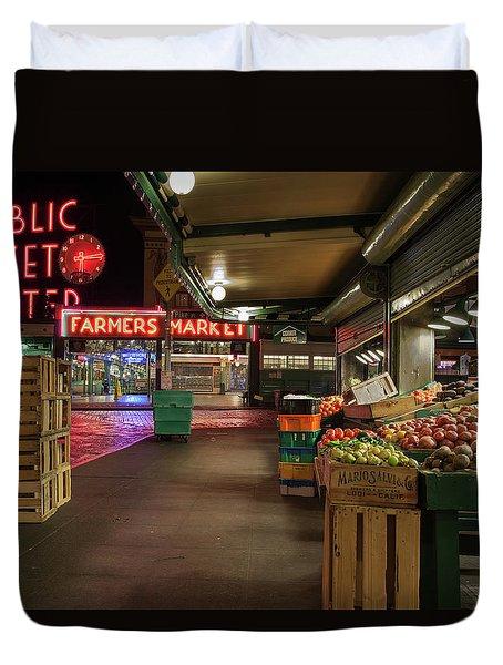 Seattle Public Market 2 Duvet Cover
