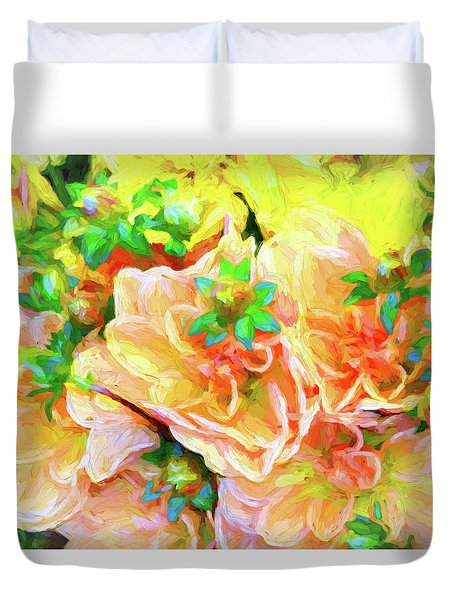 Seattle Public Market Flowers Duvet Cover