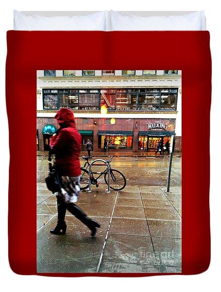 Seattle Rain Duvet Cover