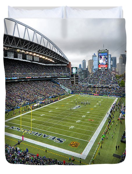 Seattle Seahawks Centurylink Field Duvet Cover