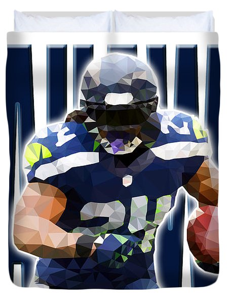 Seattle Seahawks Duvet Cover by Stephen Younts