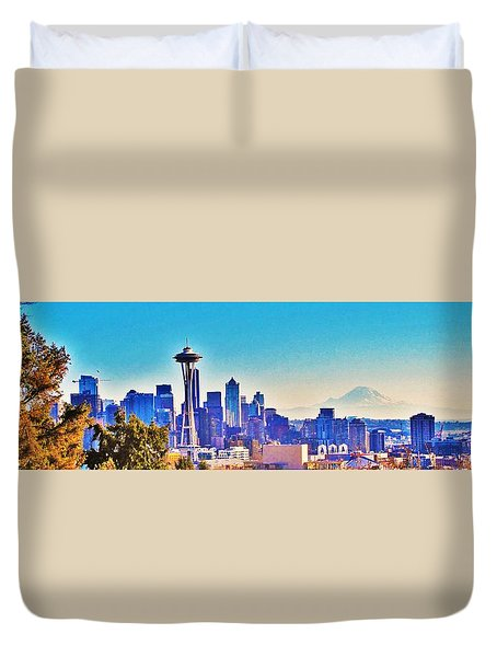 Seattle Sky Duvet Cover
