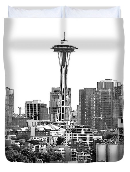 Seattle Skyline Graphic 1 Duvet Cover
