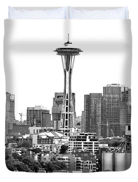 Seattle Skyline Graphic 1 Duvet Cover