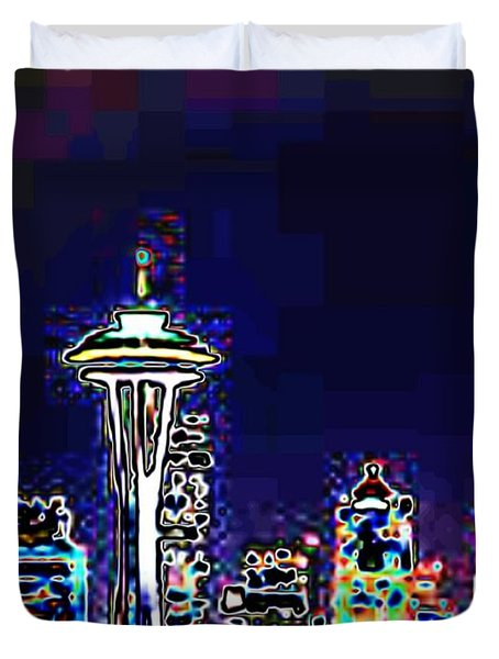 Seattle Skyline Duvet Cover by Tim Allen