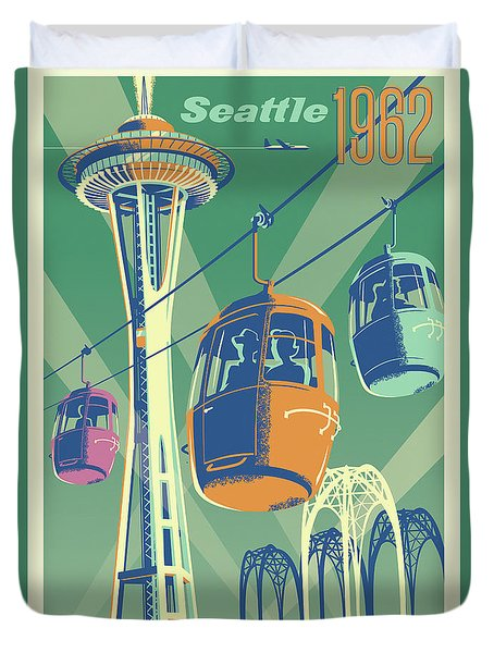 Seattle Space Needle 1962 - Alternate Duvet Cover