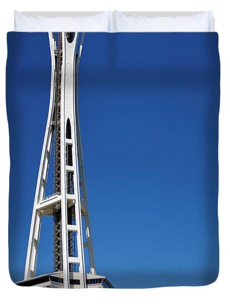 Seattle Space Needle Duvet Cover by Adam Romanowicz