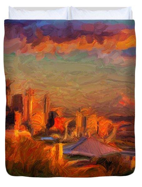 Seattle Sunset 1 Duvet Cover