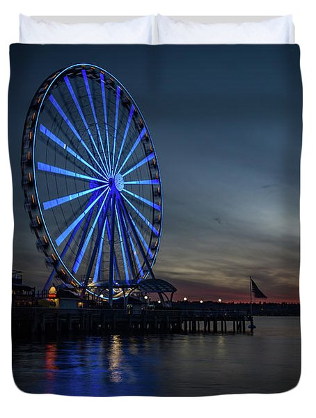 Seattle Sunset Duvet Cover