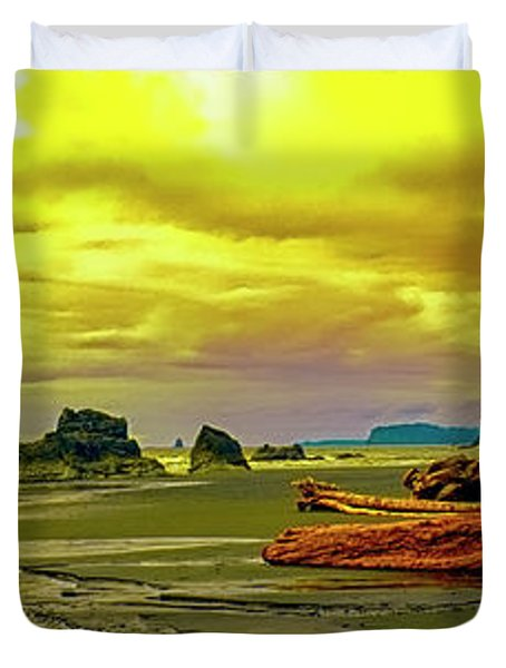 Seattle Wa. Ruby Beach Duvet Cover