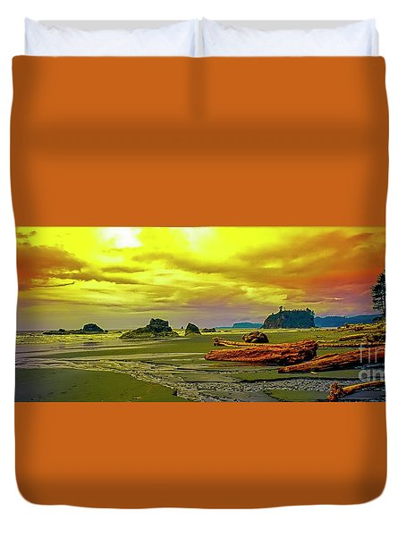 Seattle Wa. Ruby Beach Duvet Cover