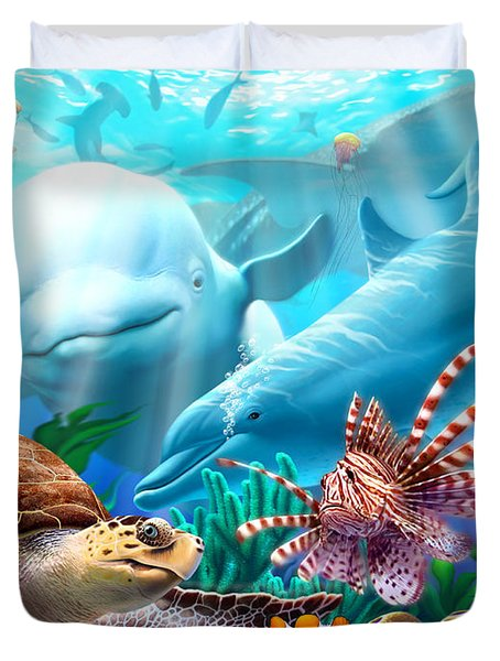 Seavilians Duvet Cover by Jerry LoFaro