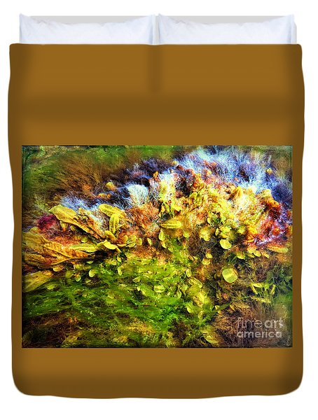 Seaweed Grunge Duvet Cover by Todd Breitling