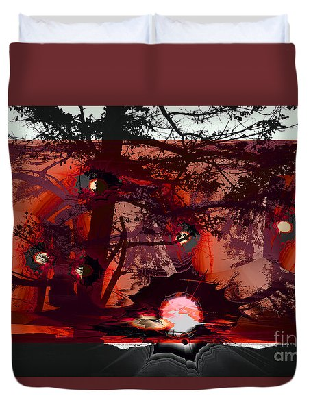 Sechelt Sunset 5 Duvet Cover by Elaine Hunter