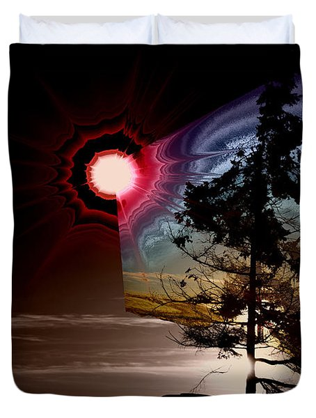 Sechelt Tree Stardust Duvet Cover by Elaine Hunter