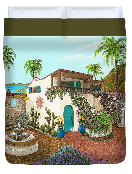 Secluded Paradise Duvet Cover