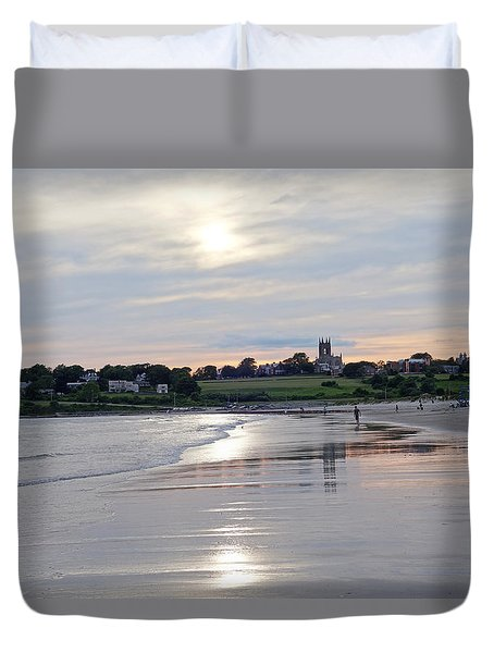 Second Beach Newport Ri Duvet Cover