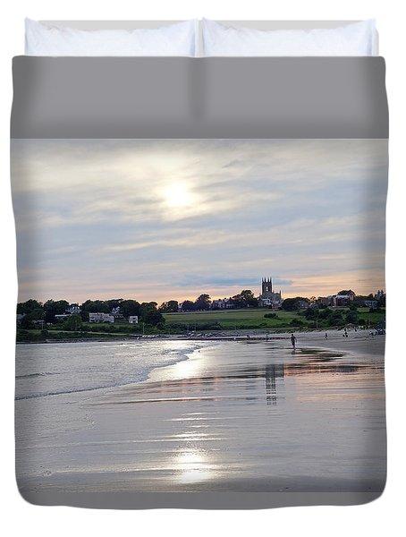 Second Beach Newport Ri Duvet Cover