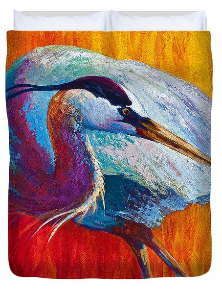 Second Glance - Great Blue Heron Duvet Cover