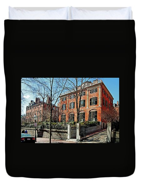 Duvet Cover featuring the photograph Second Harrison Gray Otis House  by Wayne Marshall Chase