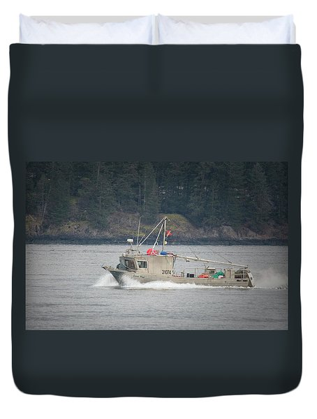 Duvet Cover featuring the photograph Second Wind by Randy Hall