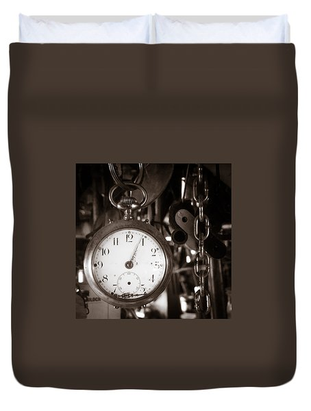 Seconds Past Duvet Cover
