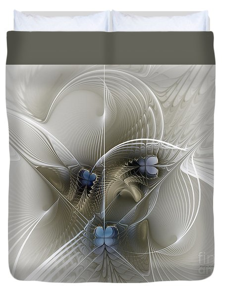 Duvet Cover featuring the digital art Secret Chambers by Karin Kuhlmann